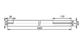 Maszt antenowy stalowy segmentowy 1,5 m średnica 38mm
