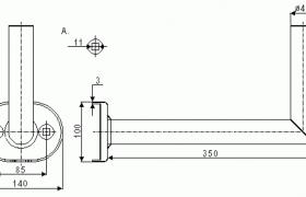 Uchwyt balkonowy pionowy BLV-350 o