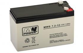 Akumulator 7,2Ah/12V MWS Power żywotność 3-5lat