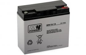 Akumulator 18Ah/12V MWS Power żywotność 3-5lat