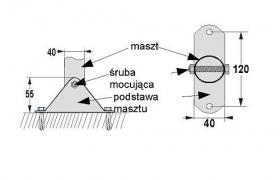 Podstawa masztu MF-40 40mm