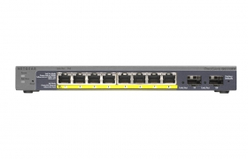 NETGEAR switch GS110TP Prosafe Smart POE 8 portowy 10/100/1000Mbps + 2xSFP