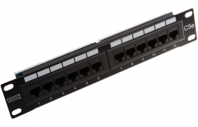 Patch Panel UTP 12p kat.5e RJ-45 RACK 10