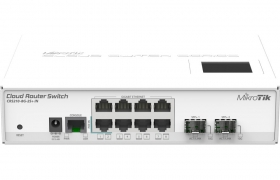 MikroTik RouterBOARD Cloud Router Switch CRS210-8G-2S+IN