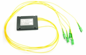 Splitter PLC 1:4 ABS box SM 2mm 1m SC/APC