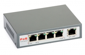 ULTIPOWER switch PoE (4xPoE) 802.3af 5 portowy 10/100Mbps