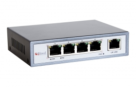 8level Switch PoE FEPS-1504 802.3af 65W 4 x FE PoE 1 x uplink 5 portowy 10/100Mbps
