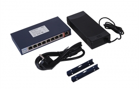 HORED Switch PoE 802.3af  8+1 (8xPoE) 120 W