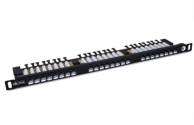 Patch panel Solarix 24xRJ45 CAT6 UTP SX24HD-6-UTP-BK
