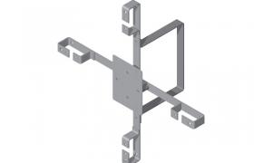Stelaż zapasu kabla napowietrznego SZD-6 z dystansem 20cm