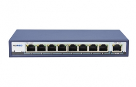 HORED Switch PoE 802.3af  8+1 (8xPoE) 96 W