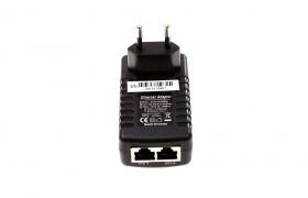 Zasilacz PoE 12V/1A dogniazdowy z LED